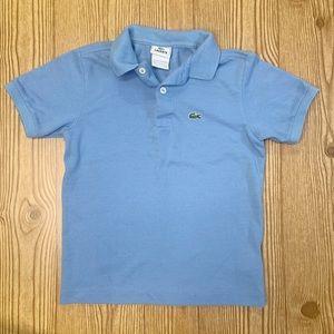 Lacoste Size 8 Light Blue Polo Shirt 100% Cotton